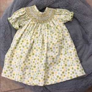 Other - Smocked green dots dress